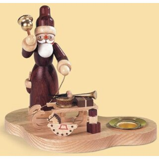 Müller candle holder Santa Claus with gifts slide