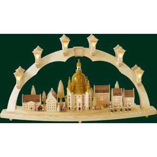 """Richard Gläser candle arch woman church with """"Striezelmarkt"""""""