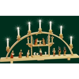 Richard Gläser candle arch Christi nativity