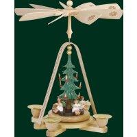 Richard Glässer pyramid angel with christmas tree