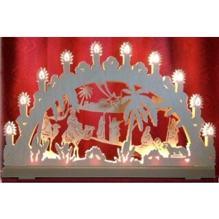 candle arch 3D Christi nativity