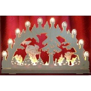 candle arch 3D Santa Claus