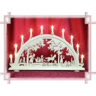 candle arch Christmas forst