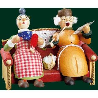 Richard Glässer Oma und Opa auf Sofa