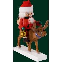 Richard Glässer nutcracker Santa on reindeer