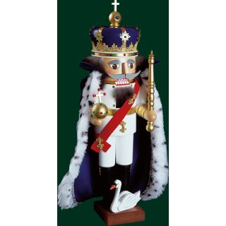 Richard Glässer nutcracker king Ludwig II. with cape