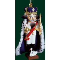 Richard Glässer nutcracker king Ludwig II. with cape