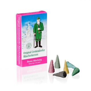 Incense cones colourful mix