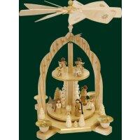 Richard Glässer Pyramide Christi Geburt mit Engel