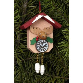 Christian Ulbricht tree decoration cuckoo clock with moose