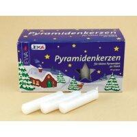 Pyramidenkerzen weiß - Durchmesser 14 mm
