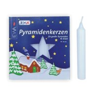 Pyramid candles white - diameter 17 mm (0,7 inch)