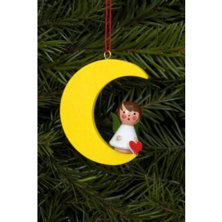 Christian Ulbricht tree decoration mini angel on moon