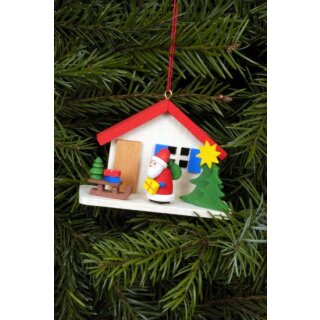 Christian Ulbricht tree decoration Santa Claus at the house