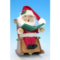 Christian Ulbricht Smoker Santa in rocking chair with...