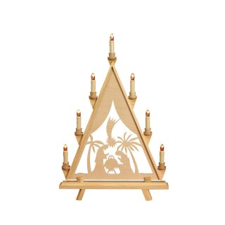 Baumann candle arch triangle motif Maria and Josef