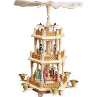 Richard Glässer Pyramide Christi Geburt bunt