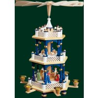 Richard Glässer Pyramide Christi Geburt blau