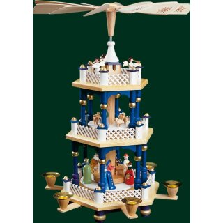 Richrad Glässer pyramid Christi nativity blue