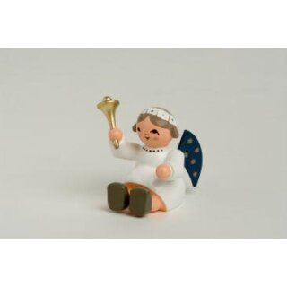 KWO angel with bell, sitting