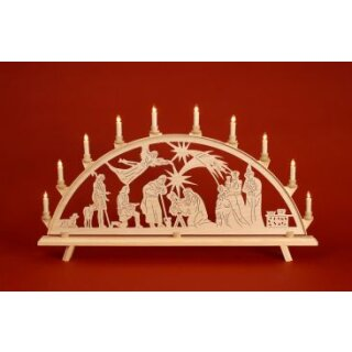 Baumann candle arch motif Christ nativity