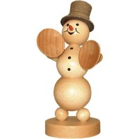 Wagner snowman musician with cymbals
