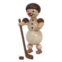 Wagner snowman ice hockey player standing