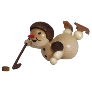 Wagner snowman ice hockey player lying