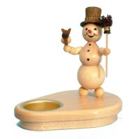 Wagner snowman chandelier with broom and bird for 1 tealight