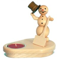 Wagner snowman chandelier with shovel for 1 tealight
