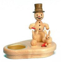 Wagner snowman chandelier with rabbits for 1 tealight