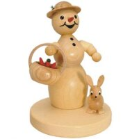 Wagner snowwoman with basket and rabbit