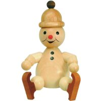 Wagner snowman junior sitting with ice skates