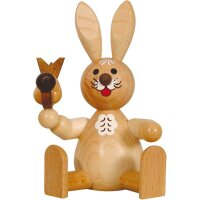 Wagner easter bunny sitting with bird nature