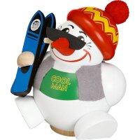 Chubby Smoker Cool-Man carrying ski