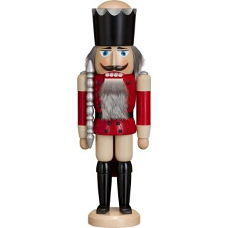 Volkskunst eG from Seiffen nutcracker king red glazed