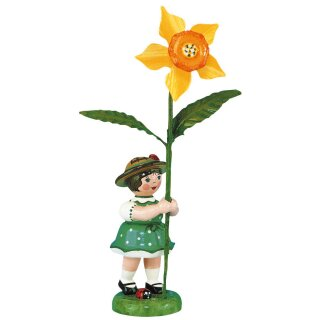 Hubrig flower kid - flower girl with daffodil