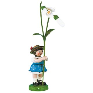 Hubrig flower kid - flower girl with snowdrop