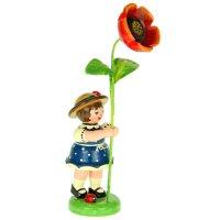 Hubrig flower kid - flower girl with poppy