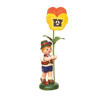 Hubrig flower kid - flower boy with viola