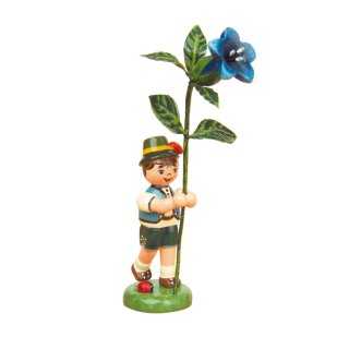 Hubrig flower kid - flower boy with gentian