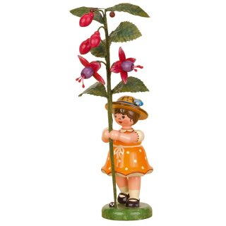 Hubrig flower kid - flower girl with fuchsia