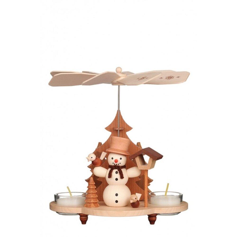 christian ulbricht teelichtpyramide schneemann natur. Black Bedroom Furniture Sets. Home Design Ideas