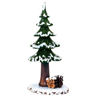 Hubrig winter kids winter tree with wooden stacks