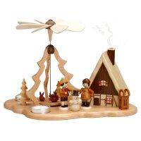 Zeidler Pyramide Winterkinder mit Rauchhaus  für...