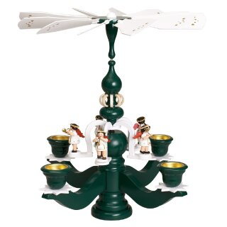 Zeidler chandelier pyramid big green, 5 white angels