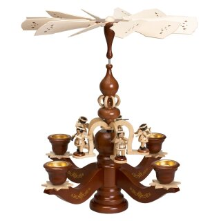Zeidler chandelier pyramid big dark glazed with 5 angels