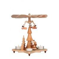 Christian Ulbricht tealight pyramid Santa Claus nature