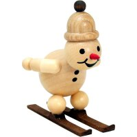 Wagner snowman junior ski jumper on the jump with cap