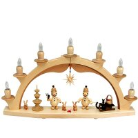 Wagner candle arch junior, solid wood - electric